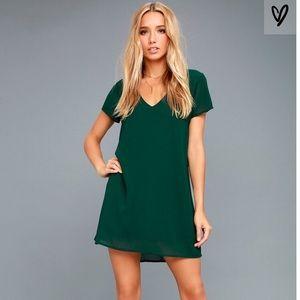 Lulu's Freestyle V-Neck Shift Dress